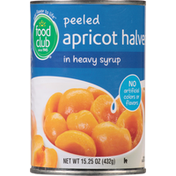 Food Club Apricot Halves in Heavy Syrup, Peeled
