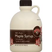 Hannaford 100% Pure Grade A Dark Amber Maple Syrup