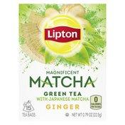 Lipton Ginger Tea Bags Japanese Matcha And Ginger