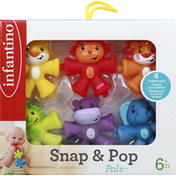 Infantino Toys, Snap & Pop, 6+ Months