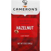 Camerons Coffee, Ground, Light Roast, Hazelnut