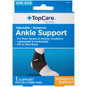 TopCare Adjustable Neoprene Moderate Ankle Support, One Size