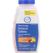 Signature Care Antacid Tablets, Ultra Strength, Assorted Fruit, Chewable Tablets