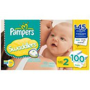 Pampers Swaddlers Super Pack Size 2 Diapers