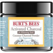 Burt's Bees Activated Coconut Charcoal Powder for Teeth Whitening, Zen Peppermint