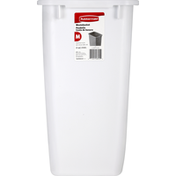 Rubbermaid Wastebaseket, White, 8 Gallon