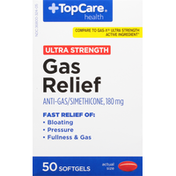 TopCare Gas Relief, Ultra Strength, 180 mg, Softgels