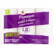 Ahold Paper Towels, Premium, Monster Roll, Any Size