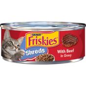 Friskies Gravy Wet Cat Food, Shreds With Beef in Gravy