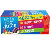 Capri Sun Fruit Punch, Berry & Apple Naturally Flavored Juice Variety Pack