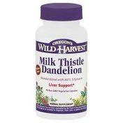 Oregons Wild Harvest Milk Thistle Dandelion, Non-GMO Vegetarian Capsules