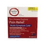 Signature Care Non-drowsy Daytime Pain Relief Multi-symptom Cold Gelcaps