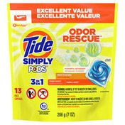 Tide Simply Pods Odor Rescue Liquid Laundry Detergent Pacs