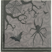 CR Gibson Napkins, Beverage, Spooky Night Spider, 2-Ply