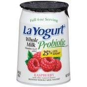 La Yogurt Probiotic Raspberry Blended Whole Milk Yogurt