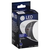 GE Light Bulb, LED, A-Shape, Black, 7 Watts