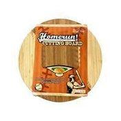 "Picnic Time Homerun 12"" 2 Tone Round Baseball Cutting Board"