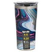 Tervis Tumbler, Purple Teal Marble, Stainless Steel, 20 Ounce