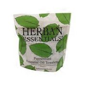 Herban Essentials Peppermint Essential Oil Towelettes 7 Ct