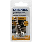 Dremel Brushes, Carbon Steel, 442, 1/2 Inch, 2 Pack