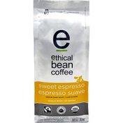 Ethical Bean Fairtrade Organic Coffee, Sweet Espresso Medium Dark Roast, Whole Bean Espresso Coffee