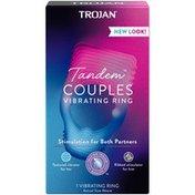 Trojan Vibrations Tandem Couples Vibrating Ring - 1 Count