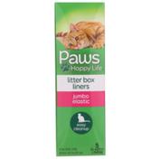Paws Happy Life Litter Box Liners Jumbo Elastic