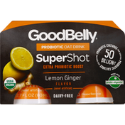 GoodBelly Oat Drink, Probiotic, Lemon Ginger Flavor