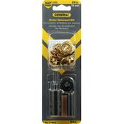 General Grommet Kit, Brass, 3/8 Inch