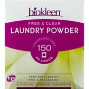 Biokleen Free & Clear Laundry Powder Detergent 150 Loads