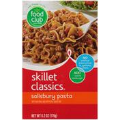 Food Club Skillet Classics, Salisbury Pasta With Sauce Mix
