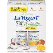 La Yogurt Whole Milk Probiotic Coconut & Mango Blended Whole Milk La Yogurt Whole Milk Probiotic Whole Milk Yogurt Variety Pack