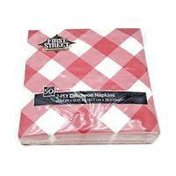 First Street Paper Art Red Gingham 2-Ply Luncheon Napkins