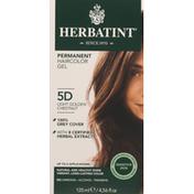 Herbatint Haircolor Gel, Permanent, Light Golden Chestnut 5D