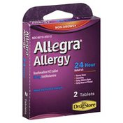 Lil Drug Store Allergy, Indoor and Outdoor, 24 Hour, Tablet, Box