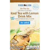 Food Lion Drink Mix, Low Calorie, Iced Tea With Lemon, On-The-Go