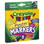Crayola Poster Markers, Washable, Chisel Tip