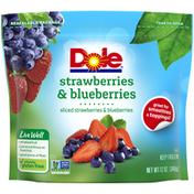 Dole Frozen Strawberries & Blueberries Mix