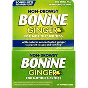 Bonine Ginger, Non-Drowsy, Bonus Size, Softgel