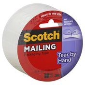 Scotch Packaging Tape, Tear-By-Hand