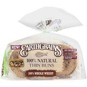 Earthgrains Thin Bun, 100% Whole Wheat