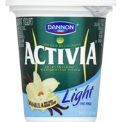 Activia Yogurt, Nonfat, Light, Vanilla
