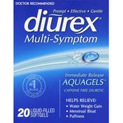 Diurex Diuretic, Caffeine Free, Multi-Symptom, AquaGels