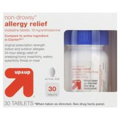 Up&Up Allergy Relief, Non-Drowsy, Original Prescription Strength, 10 mg, Tablets