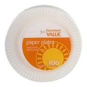 Guaranteed Value Paper Plates - 100 CT