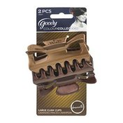 Goody ColourCollection Large Claw Clips Brunette - 2 CT