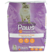 Paws Happy Life Clay Cat Litter, Fragrance Free