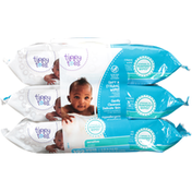Tippy Toes Wipes, Soft & Strong, Sensitive