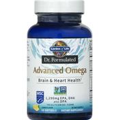 Garden of Life Advanced Omega, Softgels, Lemon Flavor