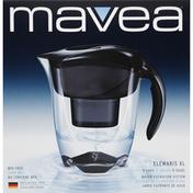 Mavea Water Filtration System, Elemaris XL/Black, 9 cups